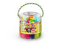 Комплект креативного творчества Тесто для лепки Master Do 22 цвета в ведре, КОД: 257831