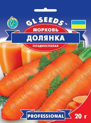 Морковь Долянка F1, пакет 20 г - Семена моркови, фото 2
