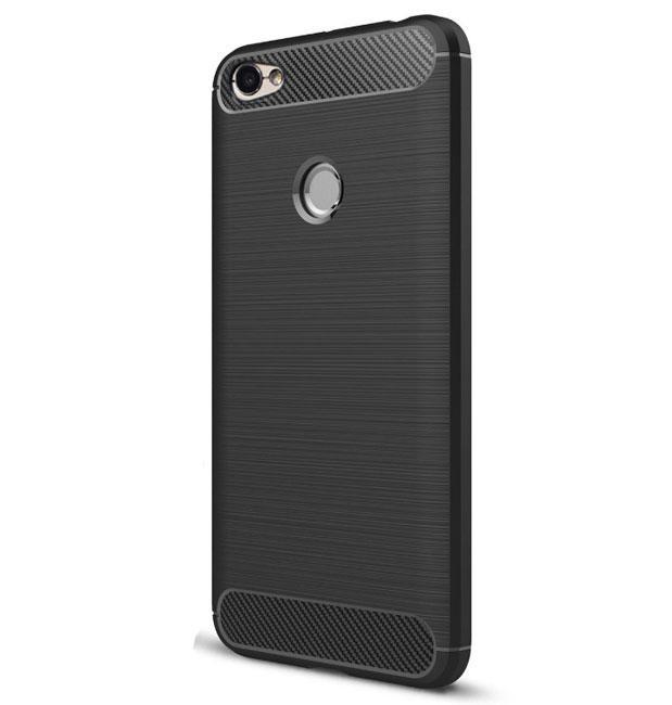 Противоударный бампер PRIMO Carbon Fiber Series для Xiaomi Redmi Note 5A Prime - Black