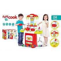 Детская кухня с посудой в коробке Fun Cook (музыка, свет) 889-52 (24 предмета)