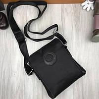 Удобная мужская сумка-планшет Versace черная планшетка унисексчерез плечо искусственная кожа Версаче реплика, фото 1