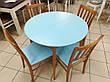 Круглый стол и 4 стула Сицилия диаметр 90 см.+30 см. вставка, фото 4