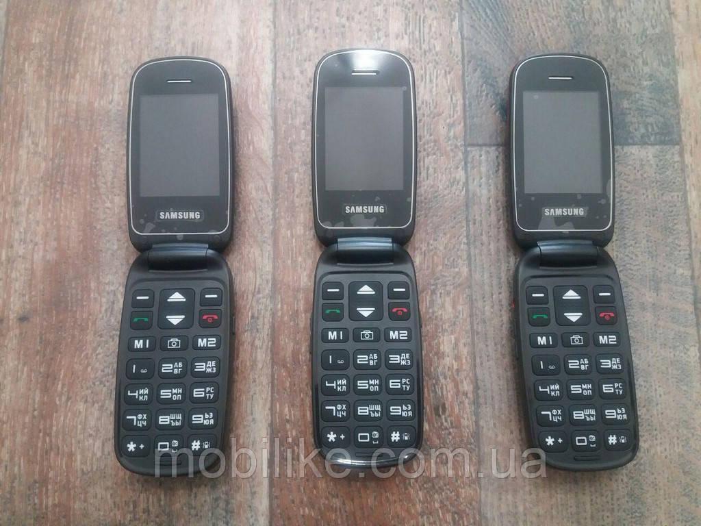 ca9e9abc99417 Кнопочный телефон Samsung Care Flip 2 SIM /С кнопкою SOS Бабушкофон НОВЫЙ  ЗАВОЗ - mobiLike