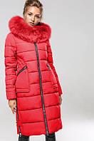 Пальто женское зимнее с натуральным мехом