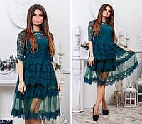 Женское шикарное вечернее платье с гипюра,бордо , черный, бутылка, темно-синий 42-44,44-46