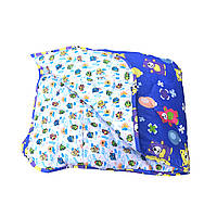 Детское двухстороннее одеяло полуторное холлофайбер,ткань поплин-байка
