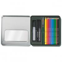 Набор акварельных карандашей Faber Castell 12 цветов Albrecht Durer+PITT металлическая коробка (117540)