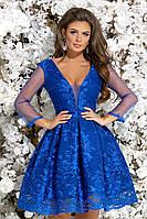 """Женское нарядное  платье """"Симона"""" (жіноче плаття )  электрик, фото 1"""