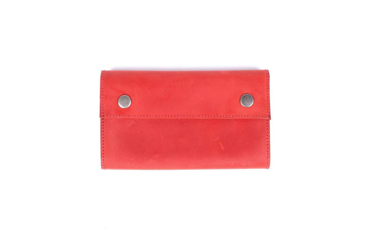b1792e07cfe9 Мужское портмоне-клатч из натуральной кожи Knockwood - Leicester, Red