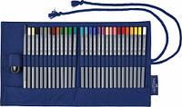 Набор акварельных карандашей Faber Castell Goldfaber Aqua 28 цветов + кисть+точилка в тканевом рулоне (114652)