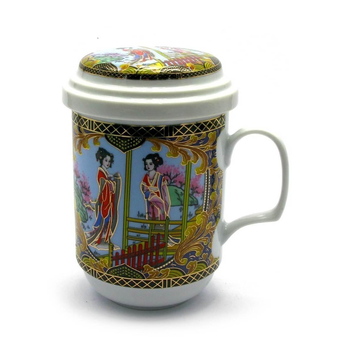 Чашка для заварки чая фарфоровая Девушки