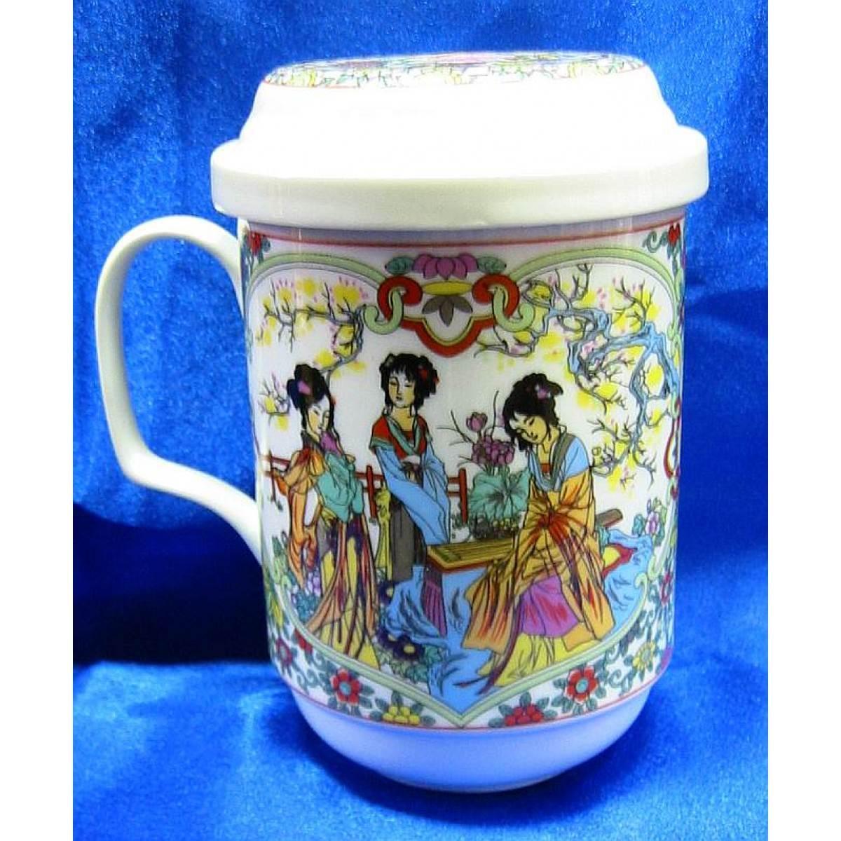 Чашка для заварки чая с крышкой