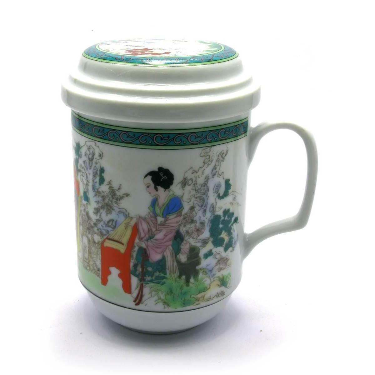 Чашка заварочная с ситом фарфор Гейши