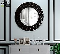 Зеркало настенное круглое Vatican черное