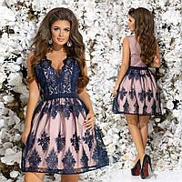 """Женское нарядное  платье с кружевом и пышной юбкой   """"Вианна"""" (жіноче плаття )"""