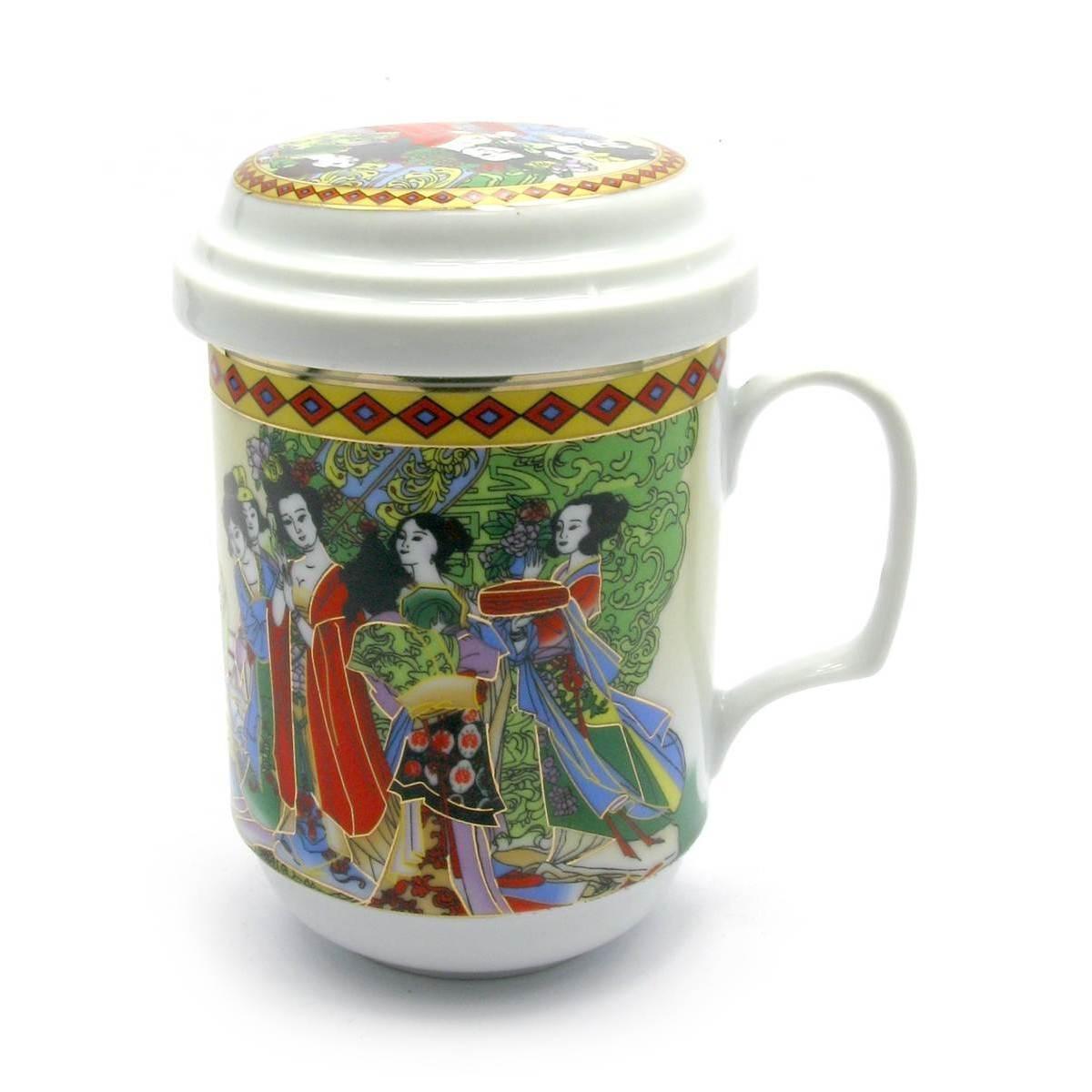 Чашка для заварки чая из фарфора