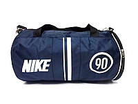 Темно синяя спортивная сумка Nike 90, цилиндр туба