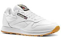 """Кроссовки Reebok Original Classic Leather white camo/""""Tiger Camo"""" женские/подростковые белые"""