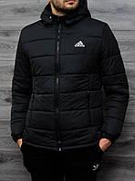 Зимняя мужская курточка, чоловіча куртка-бомбер Adidas, Реплика
