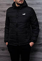 Зимняя мужская курточка, чоловіча куртка-бомбер Puma, Реплика