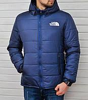 Зимняя мужская курточка, чоловіча куртка-бомбер The North Face (синий), Реплика