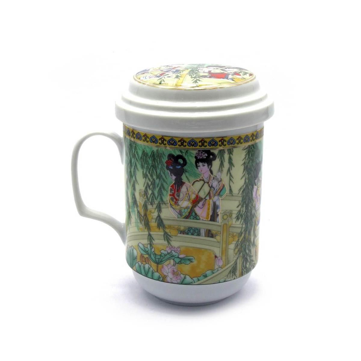 Чашка фарфоровая для заварки чая Девушки под ивой
