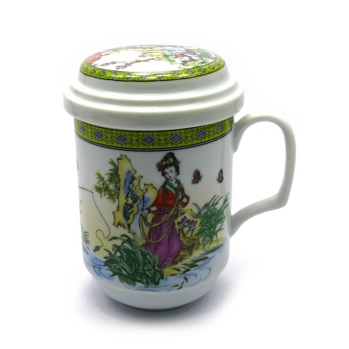 Чашка для чая Девушки на белом фоне