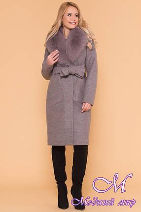 Удлиненное женское зимнее пальто с мехом (р. S, М, L) арт. Габриэлла 4232 - 40822, фото 2