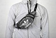 Поясная сумка Adidas, бананка, сумка торгашка, сумка через плечо