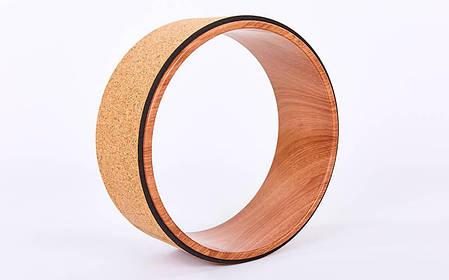 Колесо-кольцо для йоги Пробковое FI-6976, фото 2