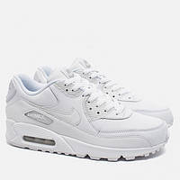 Кроссовки мужские Nike Air Max 90 Leather All White оригинал  badf2542a109d