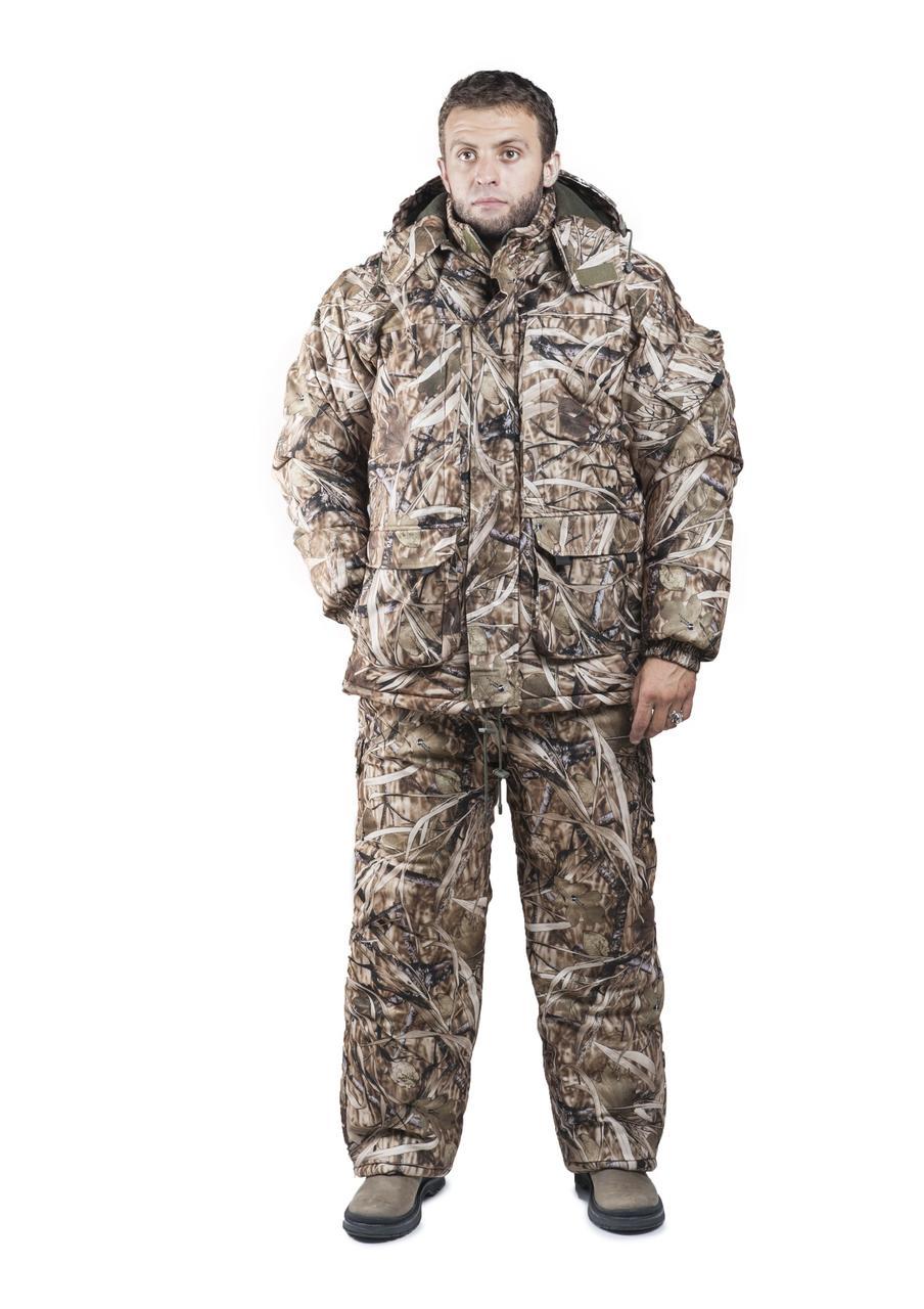 Зимний костюм для охоты и рыбалки Светлый Камыш, непродуваемый, тёплый и надежный, все размеры 52-54