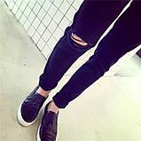 Мужские джинсы с рваным коленом, фото 3