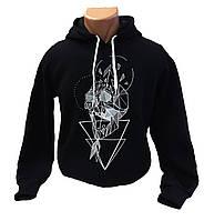 """Черная толстовка (худи) """"Skull with arrow"""""""