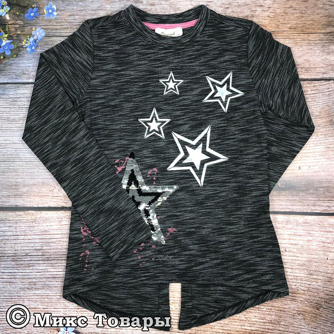Туника со звёздами темно серого цвета для девочки подростка Размеры: 146,152,158,164 см (7666-1)