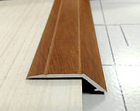 """А 10. Алюминиевый порожек рифленый. Перепад 10 мм. Анодированный и """"под дерево"""""""