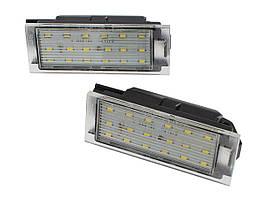 Подсветка номера Renault Clio III Master Twingo Megane Laguna LED