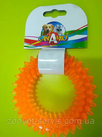 Игрушка для собак Калач с шипами Croci Италия 12 см С6098057, фото 2