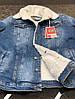 Куртка мужская джинсовая на меху демисезон, фото 6
