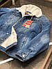 Куртка мужская джинсовая на меху демисезон, фото 7