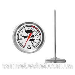 Термометр для пищевых продуктов с нержавеющим щупом биметаллический