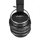 Бездротові навушники bluetooth MDR НЯ Q8 microSD Black, фото 3