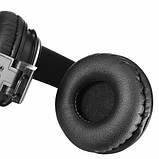 Бездротові навушники bluetooth MDR НЯ Q8 microSD Black, фото 4