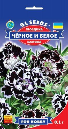 Гвоздика китайская Черное и белое, пакет 0.1 г - Семена цветов