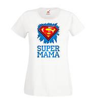 """Парные футболки Push IT с принтом S """"Super мама и папа"""""""
