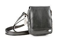 Черная мужская сумка из натуральной кожи