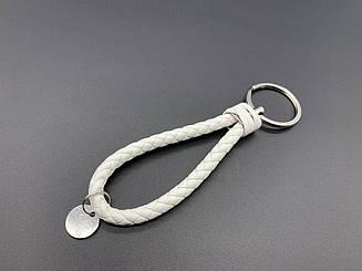 Ремешки для ключей с кольцом. Цвет белый. 14см