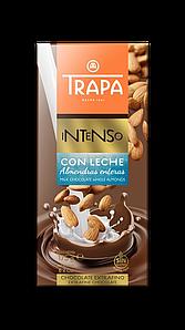 TRAPA шоколад, INTENSO, 175г, молочний, з мигдалем, 17шт/ящ 023202