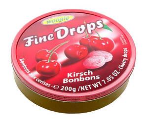 Льодяники Woogie, FINE DROPS, з вишневим смаком, 200г 10шт/ящ