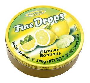 Льодяники Woogie, FINE DROPS, з лимонним смаком, 200г 10шт/ящ
